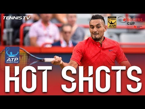 Kyrgios Slam Dunk Hot Shot Montreal 2017