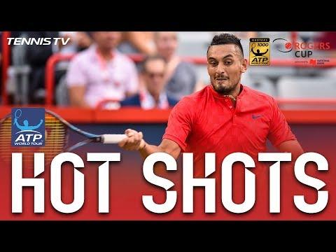 Kyrgios Slam Dunk Hot Shot Montreal 2017