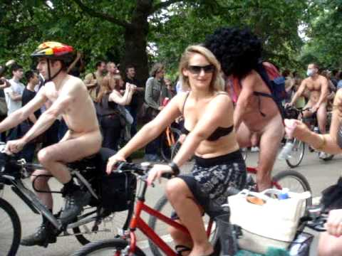 world naked bike ride 2009- hyde park, london