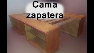 DIY Como Hacer Base de Cama Con zapatera #22