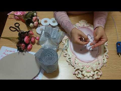 Polyester Çerçeveden Bebek Kapı Süsü Yapımı