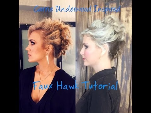 Carrie Underwood Inspired Faux Hawk Updo Whitney Evans Youtube