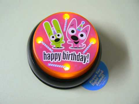 Hallmark - Hoops & YoYo Sound Button Happy Birthday (Blk)