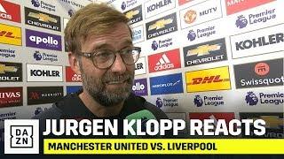 Jurgen Klopp's Immediate Reaction To Manchester United vs. Liverpool (1-1)