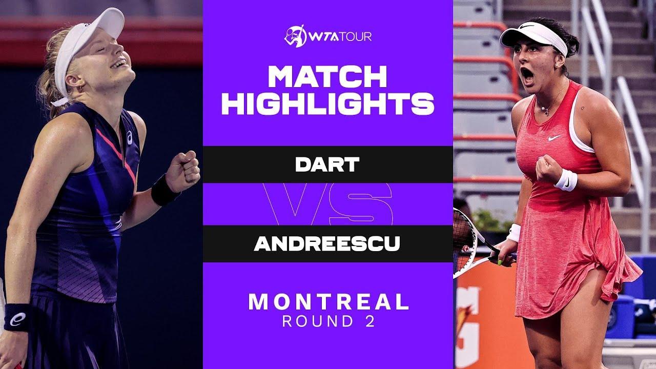 Harriet Dart vs. Bianca Andreescu | 2021 Montreal Round 2 | WTA Match Highlights