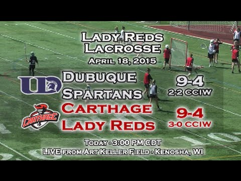 Carthage Women's Lacrosse vs. Dubuque 2015_04_18