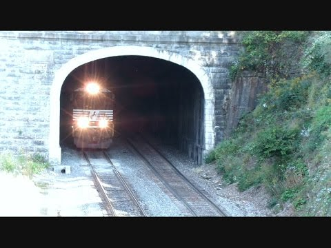 Norfolk Southern Auto Rack Out Of Tunnel Hill