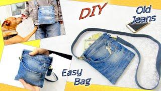 DIY Easy Jeans Purse Bag - How…