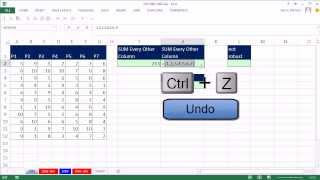 Excel Magic Trick 1082: SUM Every Other Column: Four Formula Methods (Add Every Other Column)