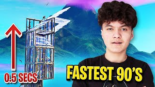 FaZe Jarvis Shows how to do Fastest Infinite 90's in Fortnite