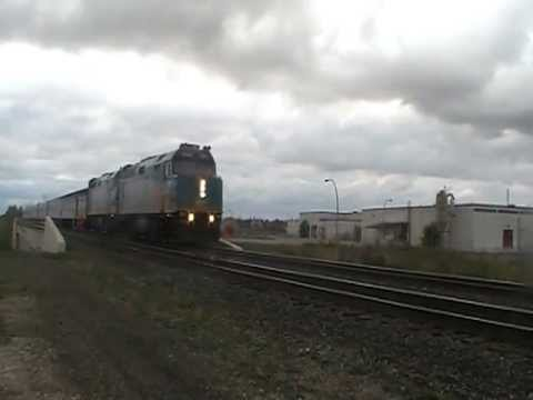 "VIA rail 692 ""The Hudson Bay ""in Winnipeg headed to Union Station on 10/10/2011"
