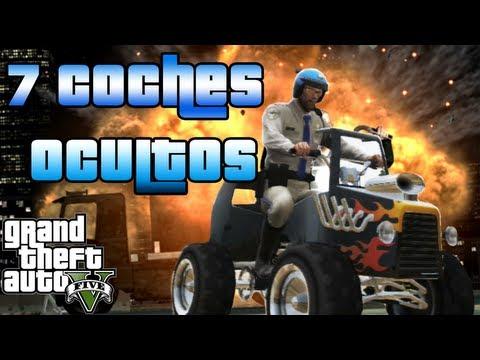 GTA V - Localizacion 7 Vehículos Secretos De GTA 5 - Coches Ocultos GTA V