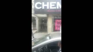 Пурим 5777 в Бней Браке из окна, автобуса, застрявшего  в пробке