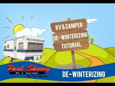 De-Winterizing RV Tutorial Video   DIY Guide with Paul Sherry RVs