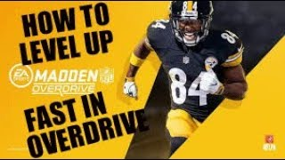 How To Level Up Fast In Madden Overdrive