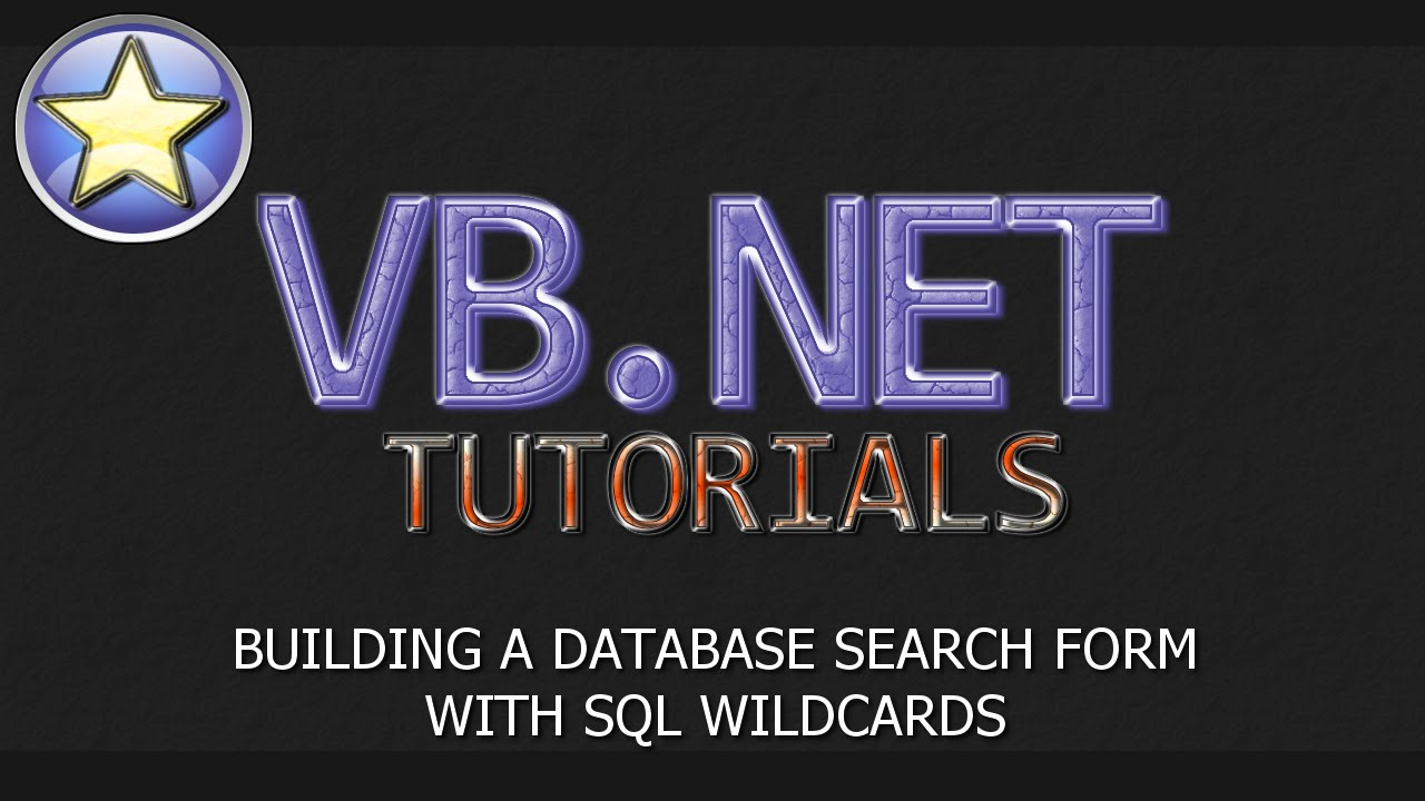 VB NET Tutorial - SQL Database Search Form With Wildcards (Visual Basic   NET)