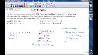 GATE 2014 ECE STA 1234H, 8085 microprocessor