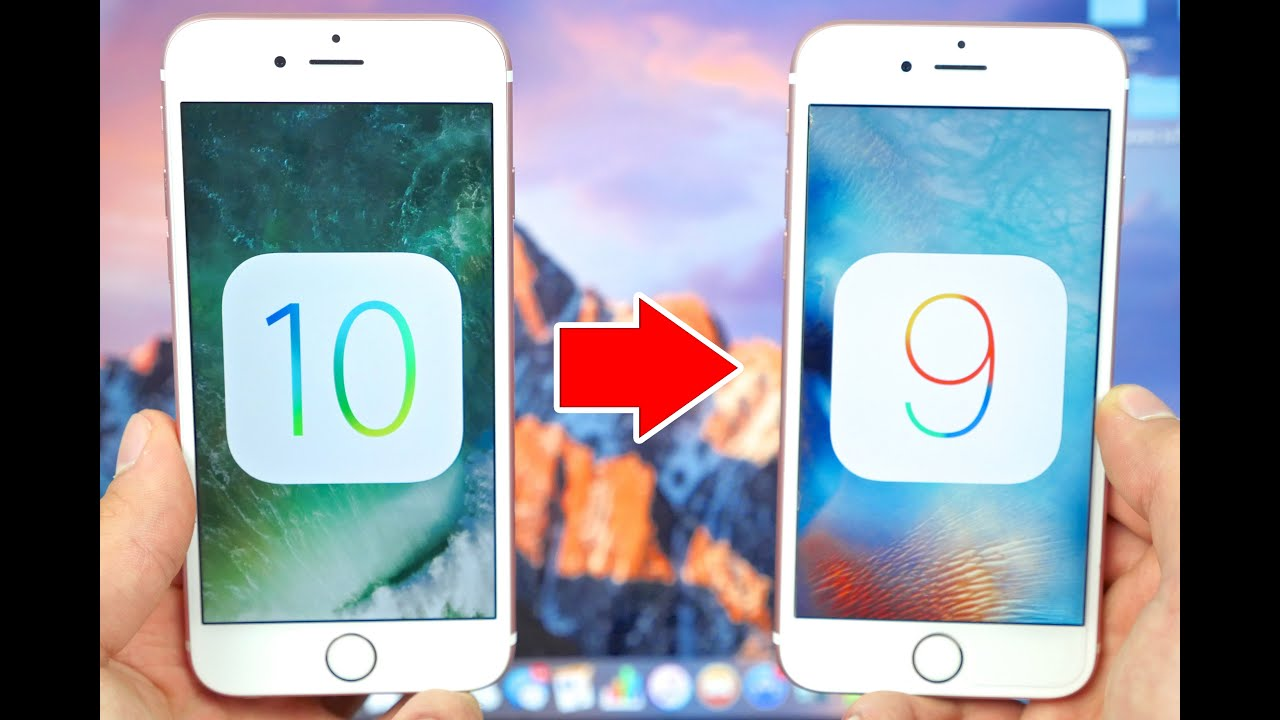 Downgrade Ios 10 To Ios 9 Without Losing Data  Youtube