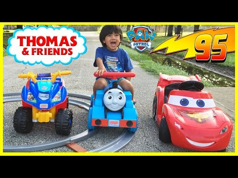 Thumbnail: PLAYTIME AT THE PARK Disney Cars Lightning McQueen Paw Patrol Thomas Power Wheels Egg Surprise Toys