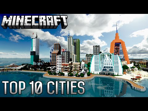Top 10 INSANE Minecraft Cities of ALL-TIME (1.8.8)