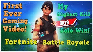 First Gameplay upload EVER! Highest kill SOLO win on Fortnite!