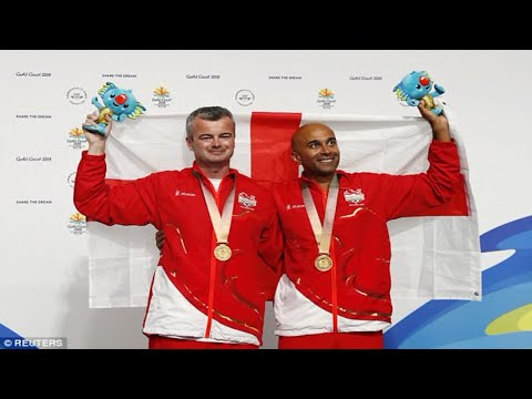 Parag Patel and David Luckman win gold for England in Queen's Prize Pair shooting at