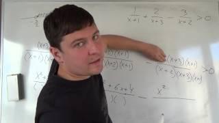 Алгебра 9 класс. 27 октября. Системы неравенств #16 икс в знаменателе