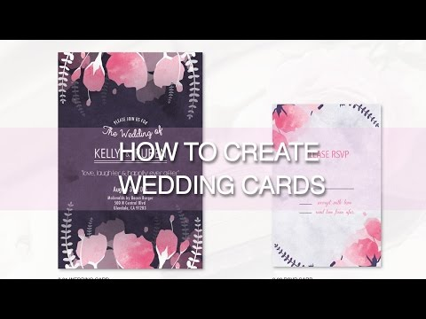 HOW TO DESIGN WEDDING CARDS - Illustrator Tutorial