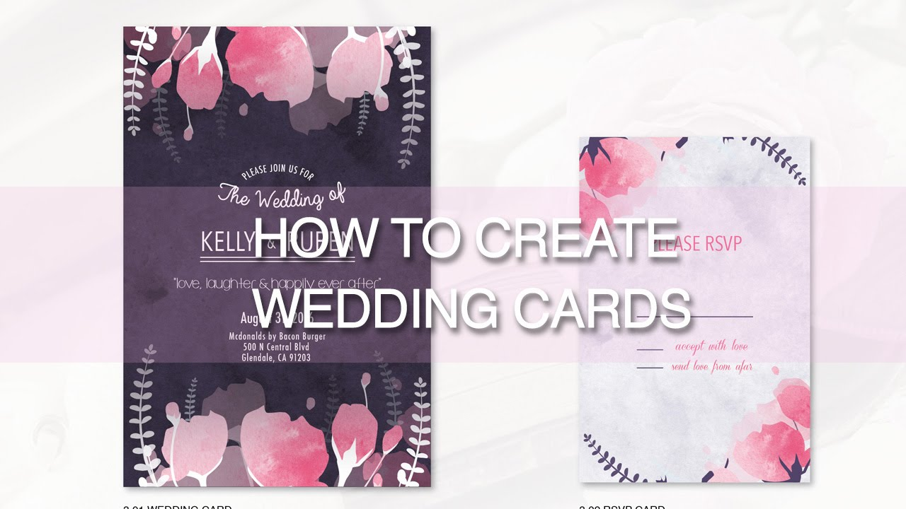 HOW TO DESIGN WEDDING CARDS Illustrator Tutorial YouTube