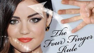 QUICK MAKEUP TIP - THE FOUR FINGER CONTOUR RULE!