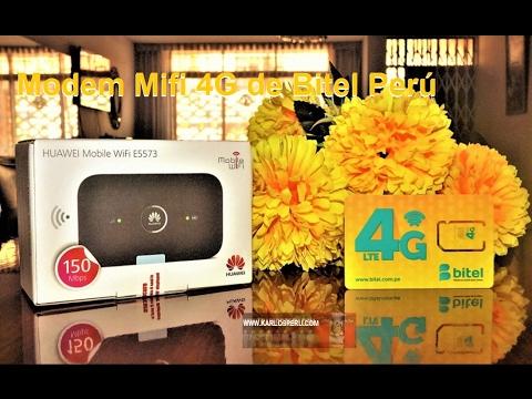 Probando el Modem Mifi Huawei E5573 4G de Bitel Perú