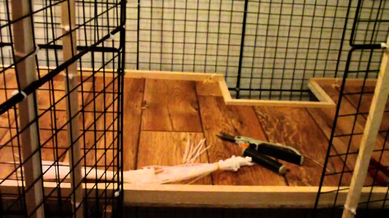 How to build a nic rabbit condo youtube - How to make a rabbit cage ...