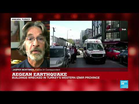 Search for survivors as powerful quake rocks Turkey