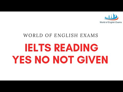 IELTS Reading Yes No Not Given