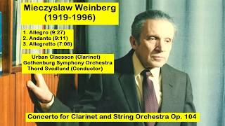 Gambar cover Mieczyslaw Weinberg (1919-1996) - Concerto for Clarinet and String Orchestra Op. 104