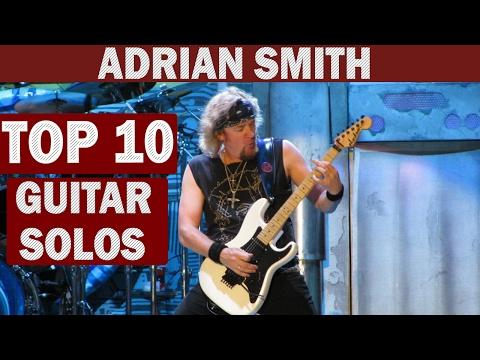 Top 10 Guitar Solos - Adrian Smith (Iron Maiden)