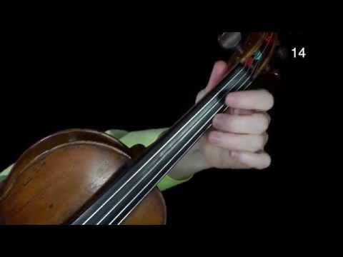 Bach Double Violin Concerto tutorial, part 2 (left hand up close) (French Subtitles)