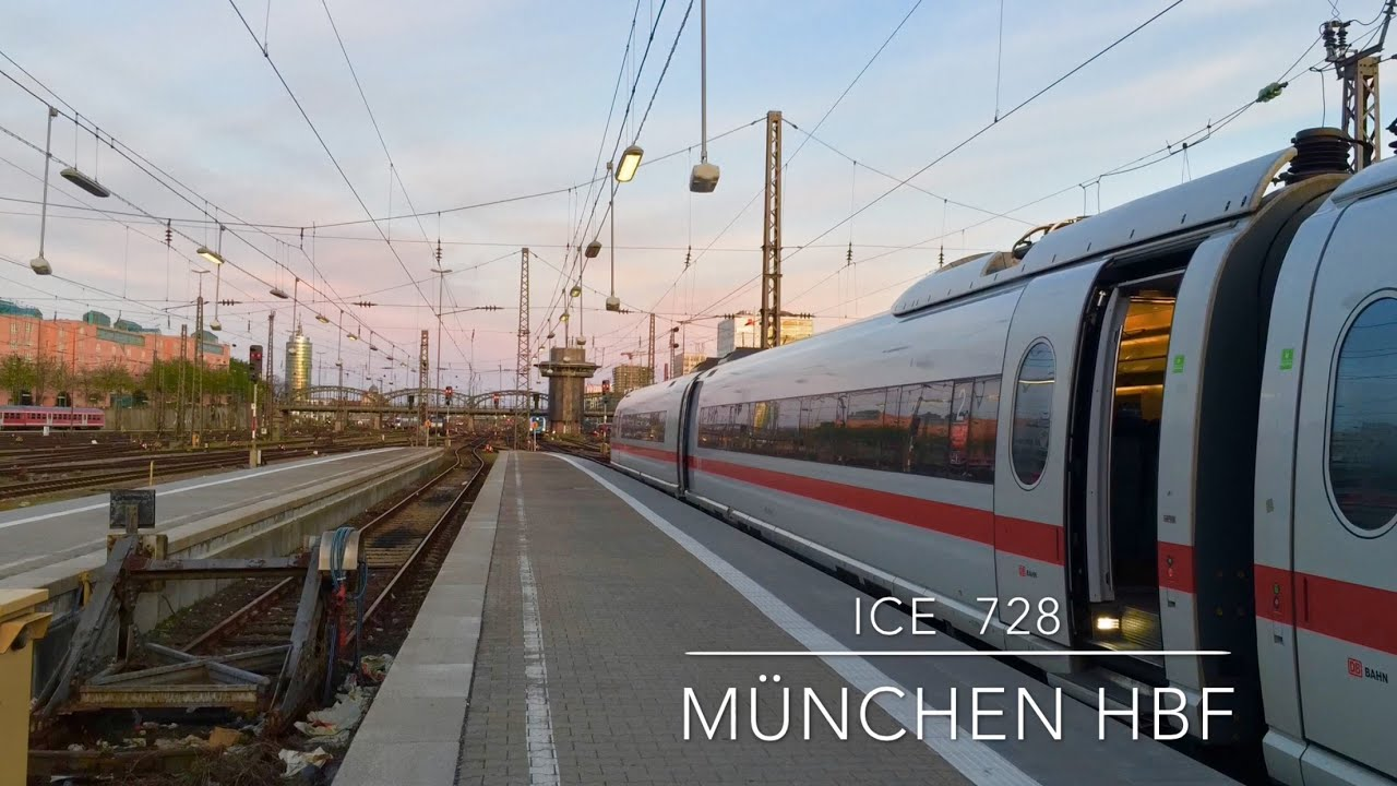 ice 728 departs m nchen hbf for dortmund hbf youtube. Black Bedroom Furniture Sets. Home Design Ideas