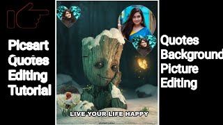How To Make Quotes in PicsArt |Quotes Background Stylish Picture Editing Tutorial |Darkroom Tech