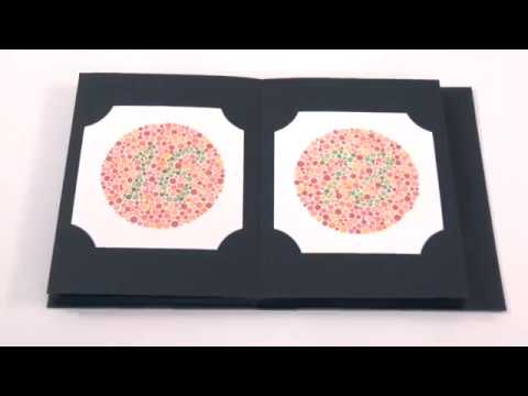 Ishiara Test Chart Book For Color Deficiency Youtube