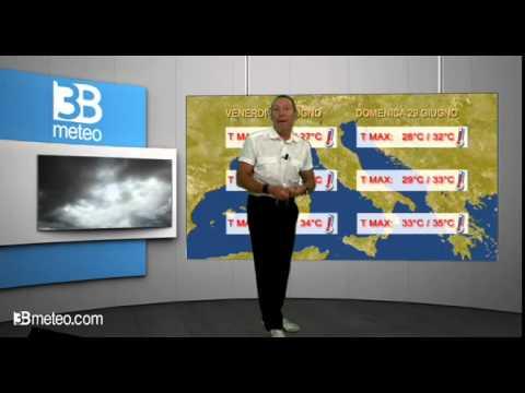 Italia divisa in due nellultimo weekend di Giugno: caldo al Sud, temporali al Nord