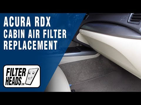 How To Replace Cabin Air Filter 2013 Acura RDX