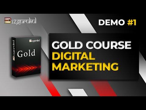 BIZGURUKUL GOLD COURSE: DIGITAL MARKETING (DEMO VIDEO#1)