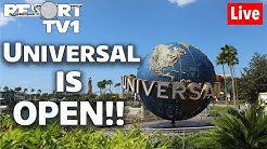 🔴Live: Universal Studios Orlando is Officially OPEN to the Public!!