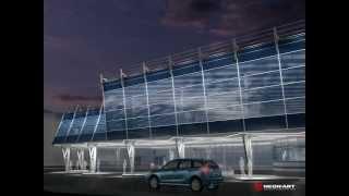 Архитектурная подсветка автовокзала