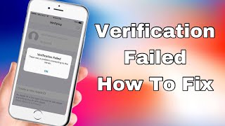 Fix''Verification Failed Apple ID  Server Problem 2018
