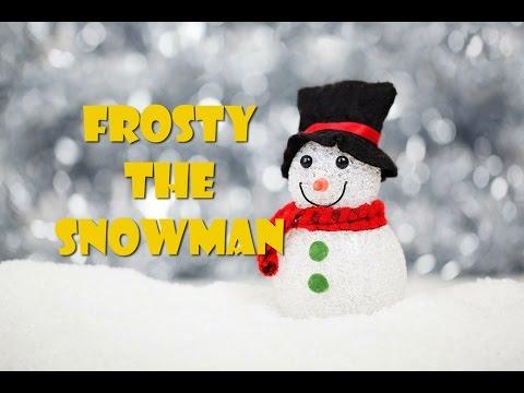Frosty the snowman (lyrics video - instrumental for karaoke)