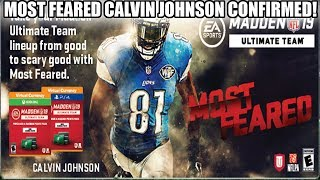 MOST FEARED CALVIN JOHNSON CONFIRMED! MOST FEARED PROMO! | MADDEN 19 ULTIMATE TEAM