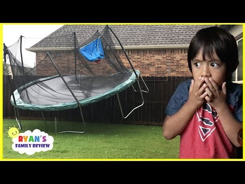 Thumbnail: Scary Storm blew away our trampoline and Lights Went Out with Ryan's Family Review