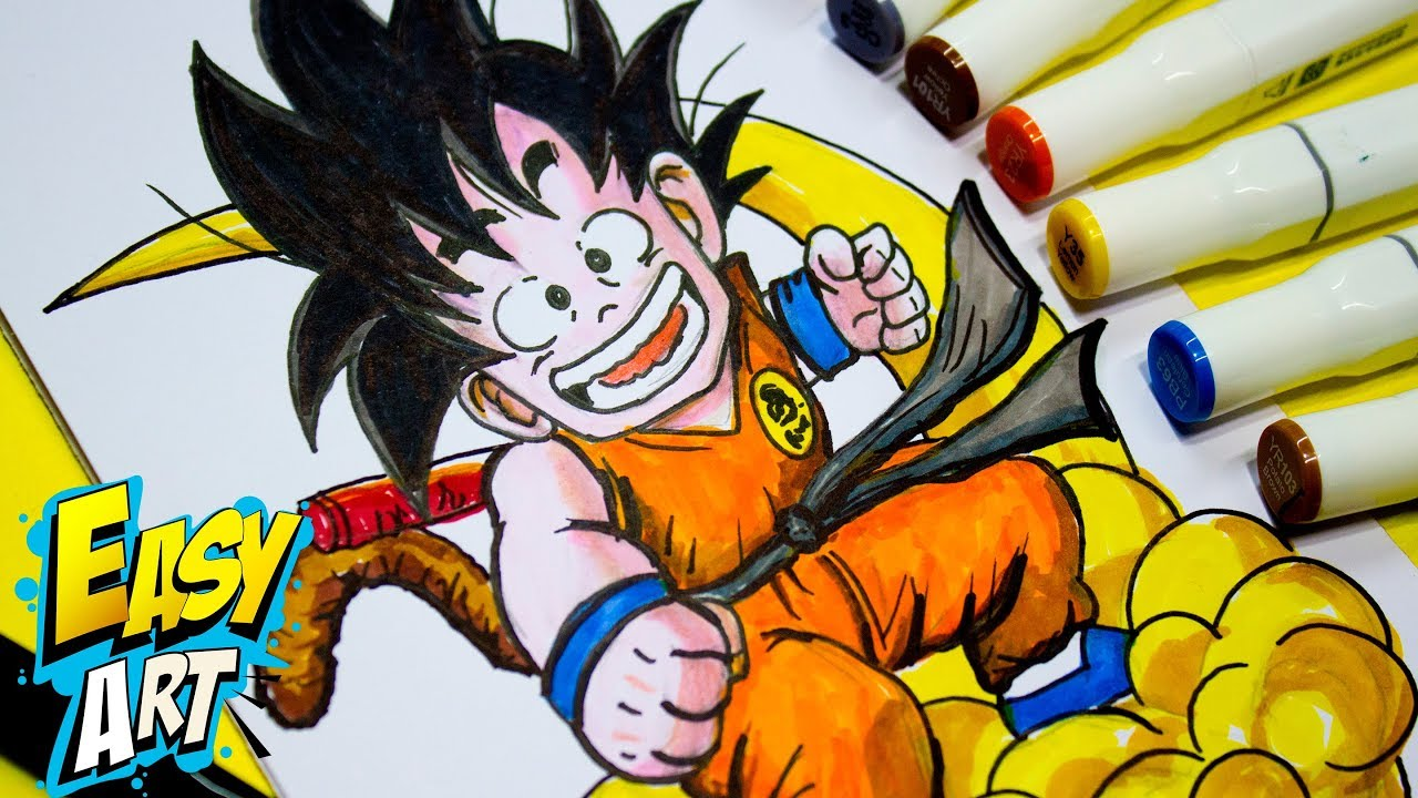 Colorear Goku Y Para Dibujos Para Colorear De Goku Ssj: Dibujos De Goku Para Colorear